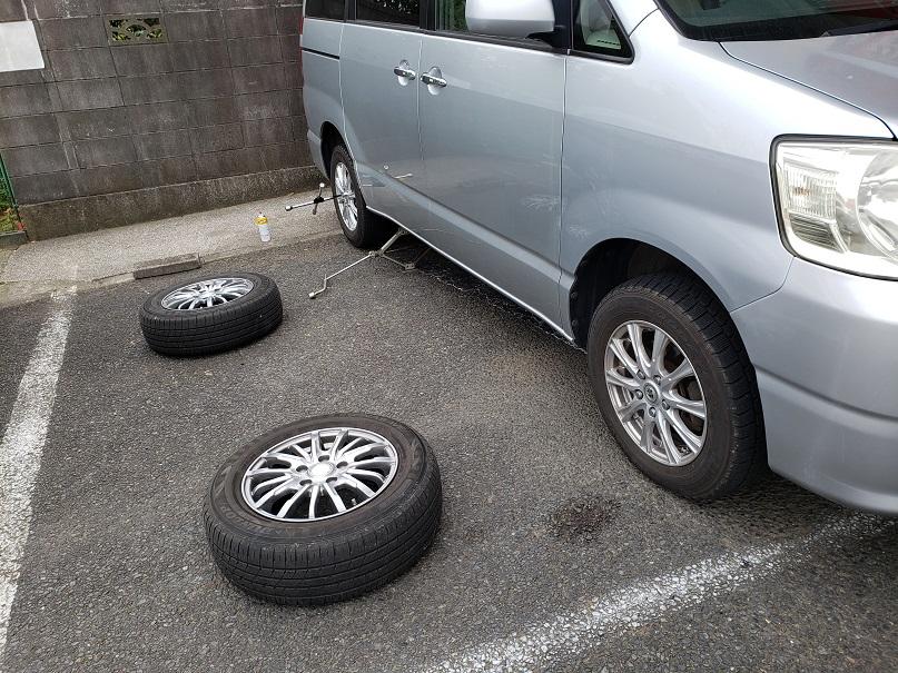 トヨタ ノア タイヤ交換