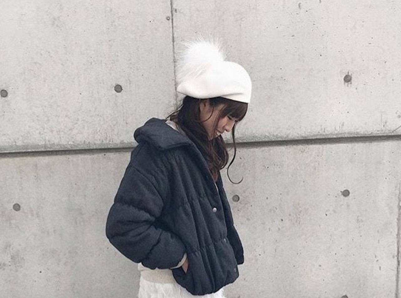 ベレー帽コーデ